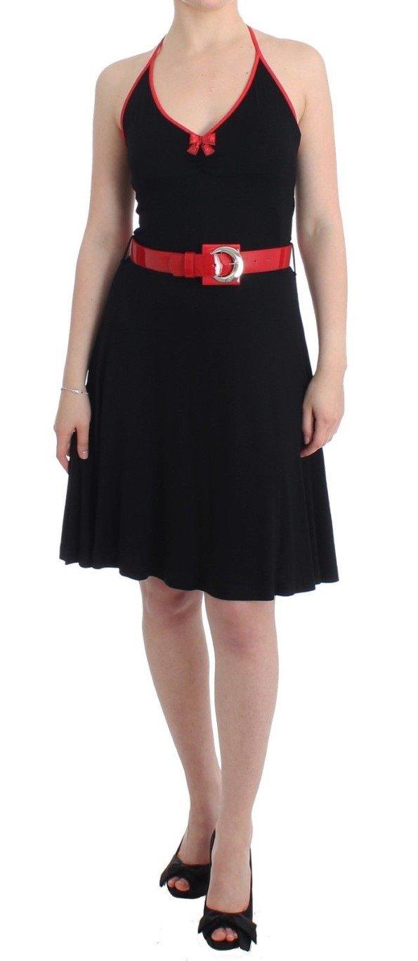 Roccobarocco Women's belted palladio Dress Black SIG11589 - IT46|XL