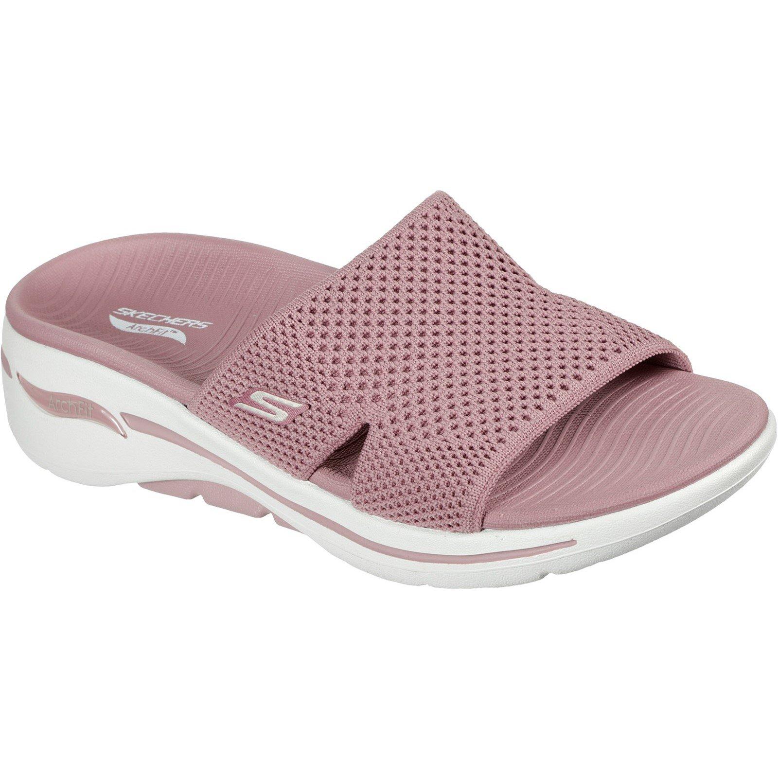 Skechers Women's Go Walk Arch Fit Worthy Summer Sandal Various Colours 32152 - Rose 6
