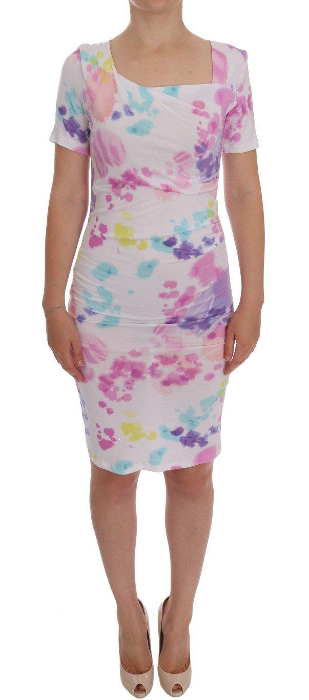 Roccobarocco Women's Printed Pencil Sheath Dress Multicolor GE10004 - IT44 | M