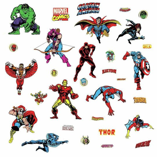 RoomMates Wallstickers Marvel Classic