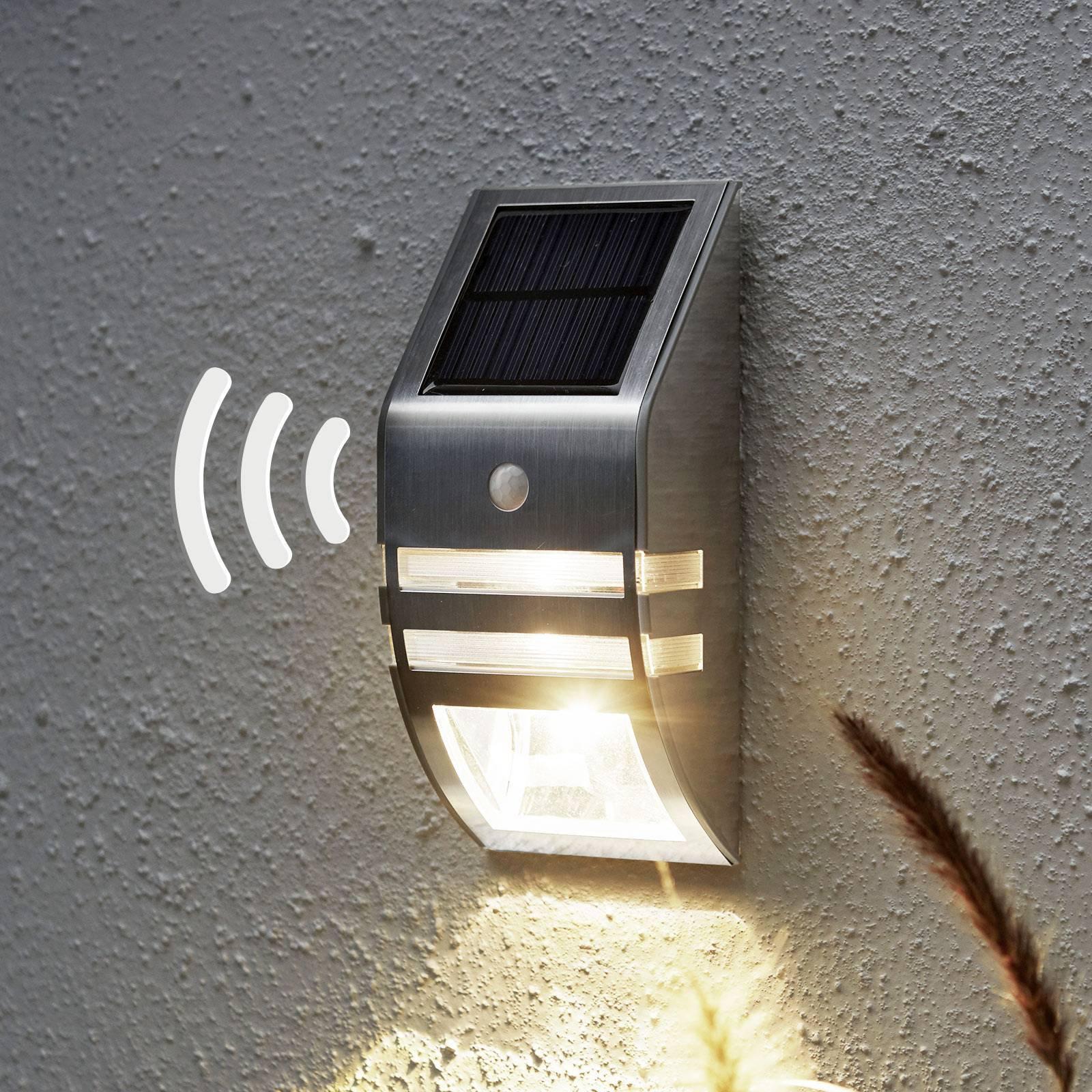 Soldrevet LED-vegglampe Wally bevegelsessensor