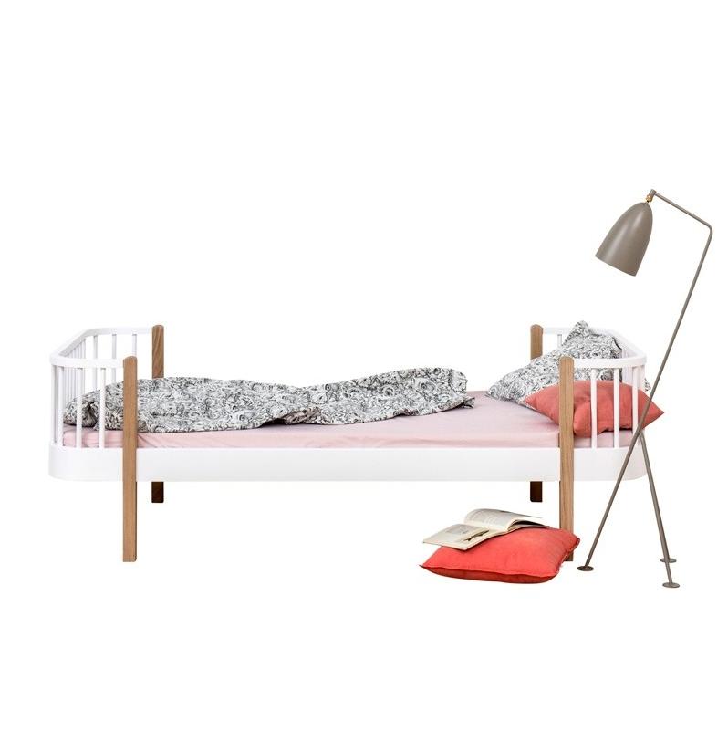 Säng Wood Collection ek/vitlack, Oliver Furniture