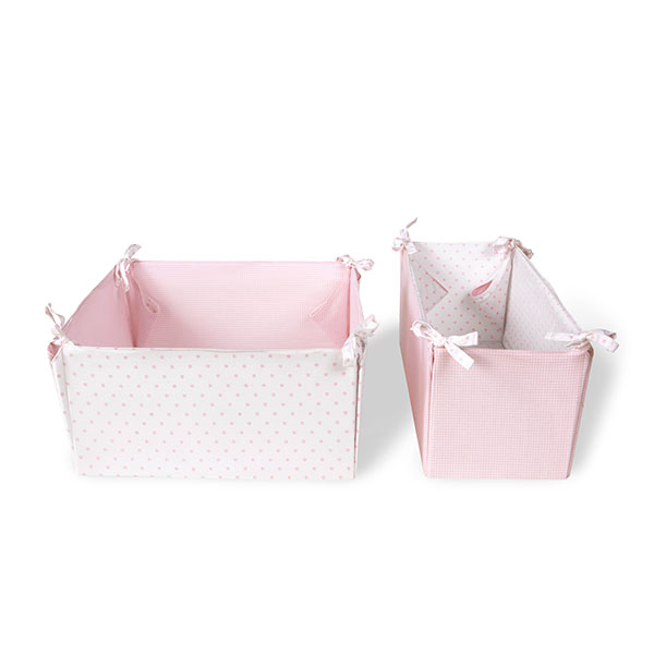 Vinter & Bloom - Storage Boxes Gingham - Pink Rose
