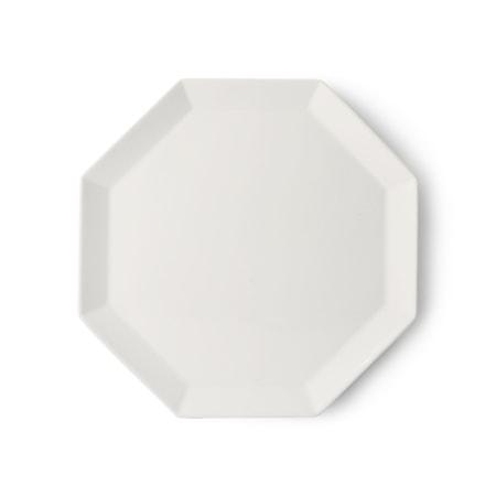 Athena Ceramics Octagonal Tallrik Vit 27 cm
