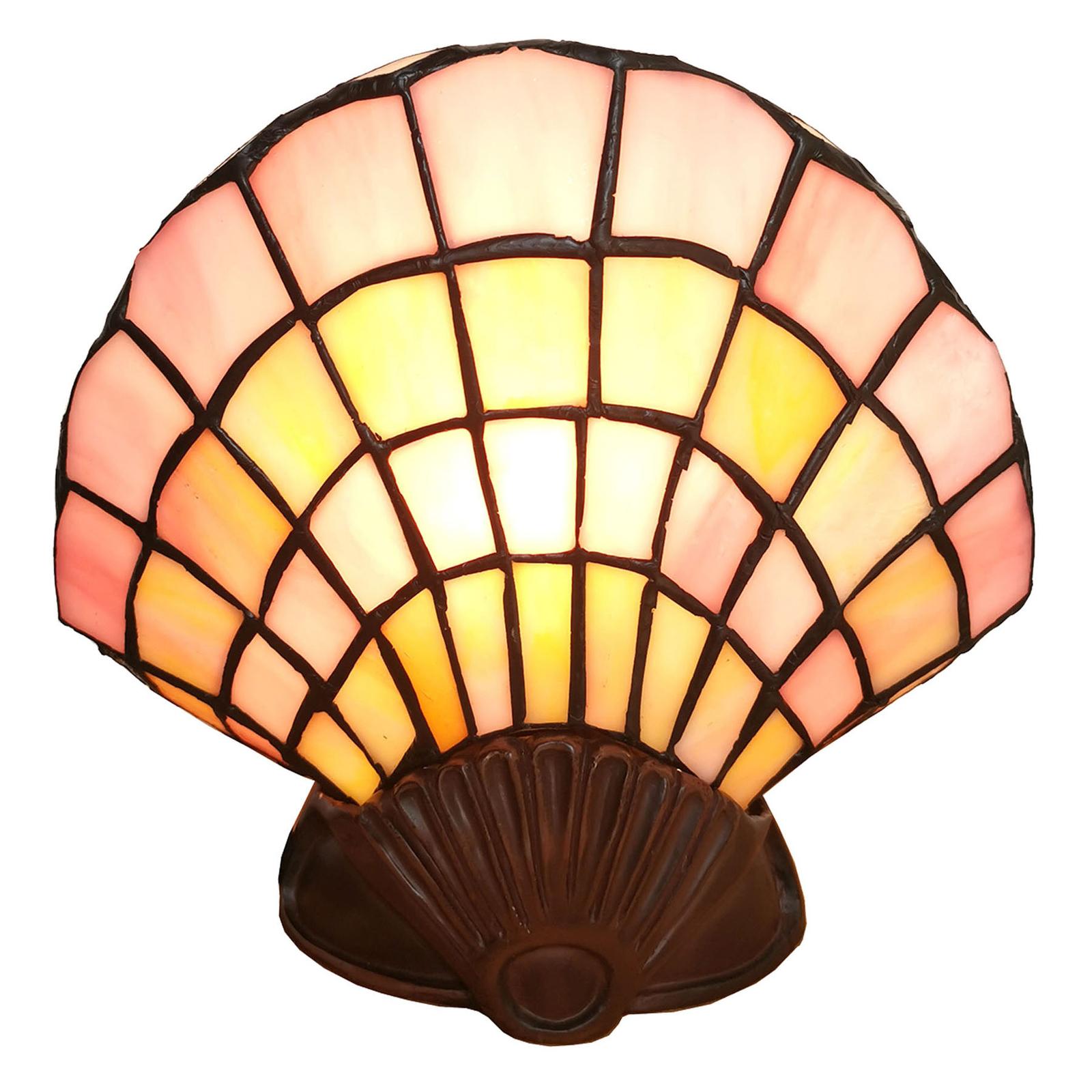 Koristepöytälamppu 6000 simpukka, tiffany-muotoilu