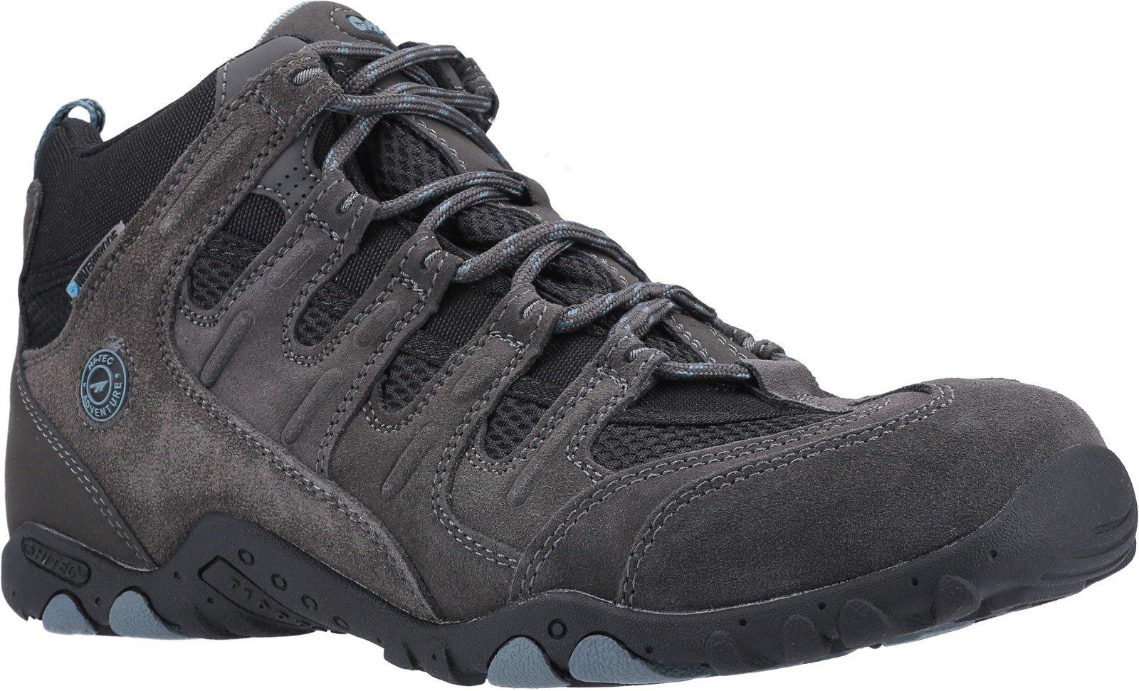 Hi-Tec Men's Quadra Classic Multi-Sport Boots Multicolor 31630 - Charcoal/Graphite/Goblin Blue 7