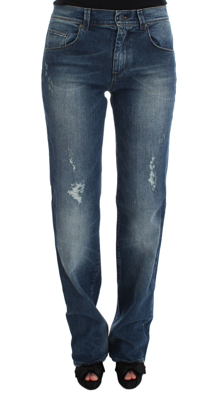 Ermanno Scervino Women's Cotton Blend Slim Fit Jean Blue SIG30282 - W28