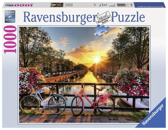 Ravensburger Puslespill Sykler I Amsterdam, 1000 Brikker