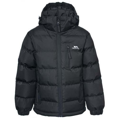 Trespass Kid's Boy Jacket Various Colours Tuff - Black 7 to 8 Years
