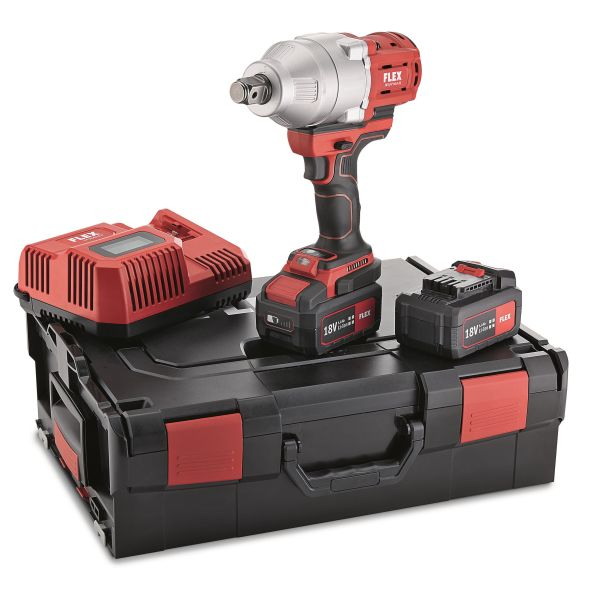"""Flex IW3/4"""" 18.0-EC Muttertrekker med batterier og lader"""