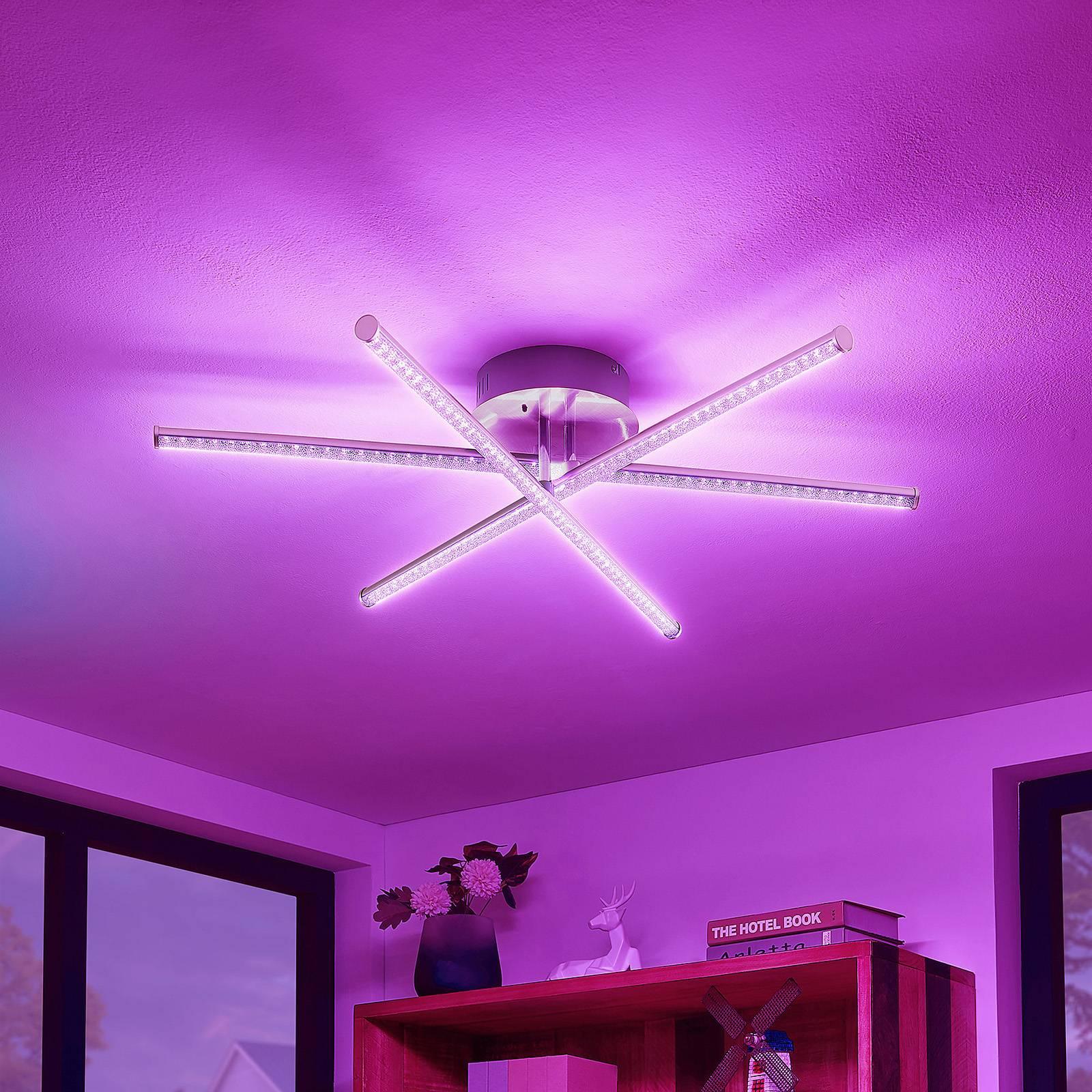 Lindby Lansson -LED-RGB-kattovalaisin 3-lamppuinen