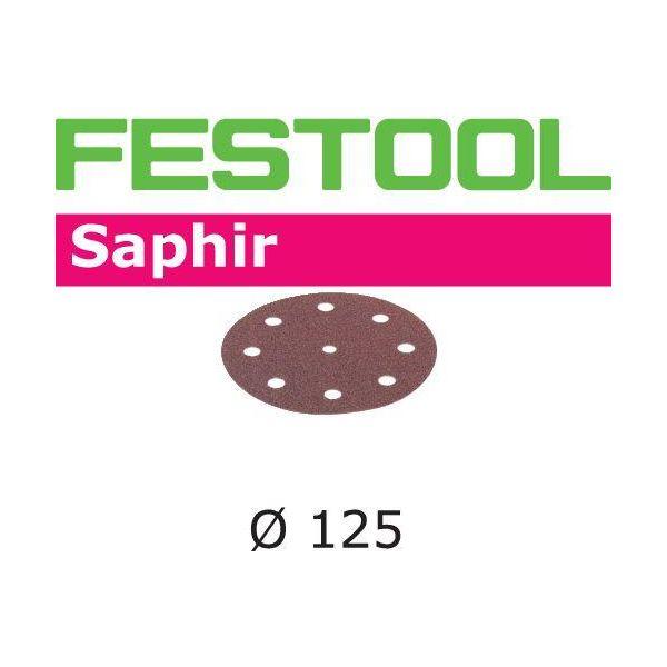 Festool STF SA Hiomapaperi 125 mm, 8-reikäinen, 25 kpl P24