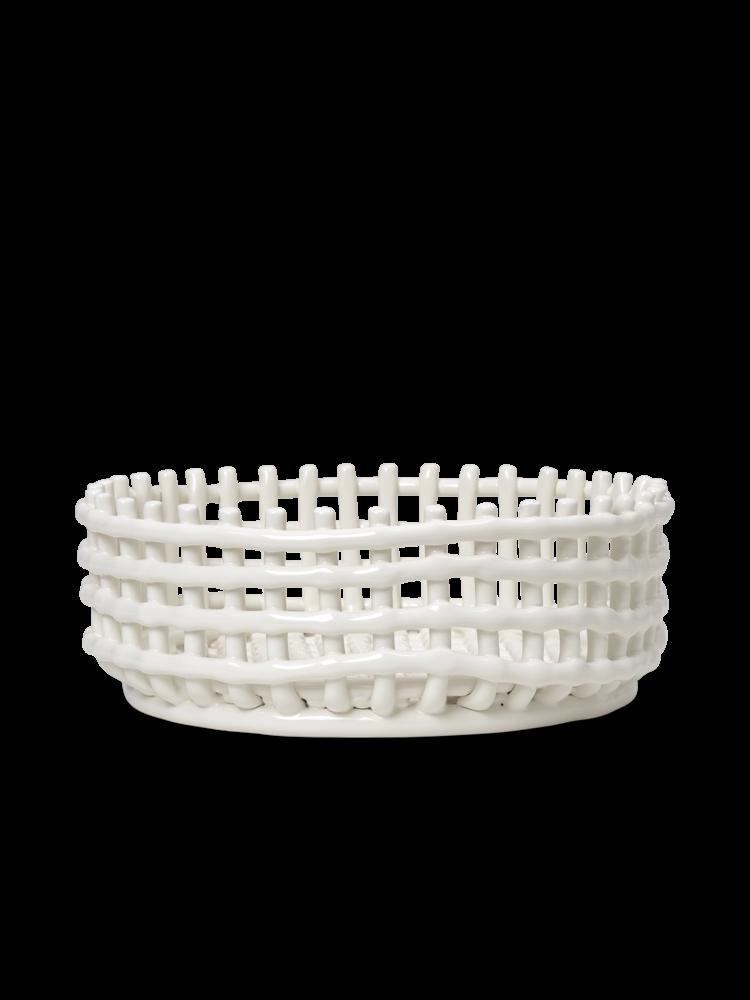 Ferm Living - Ceramic Centrepiece Basket - Off-White (1104263533)