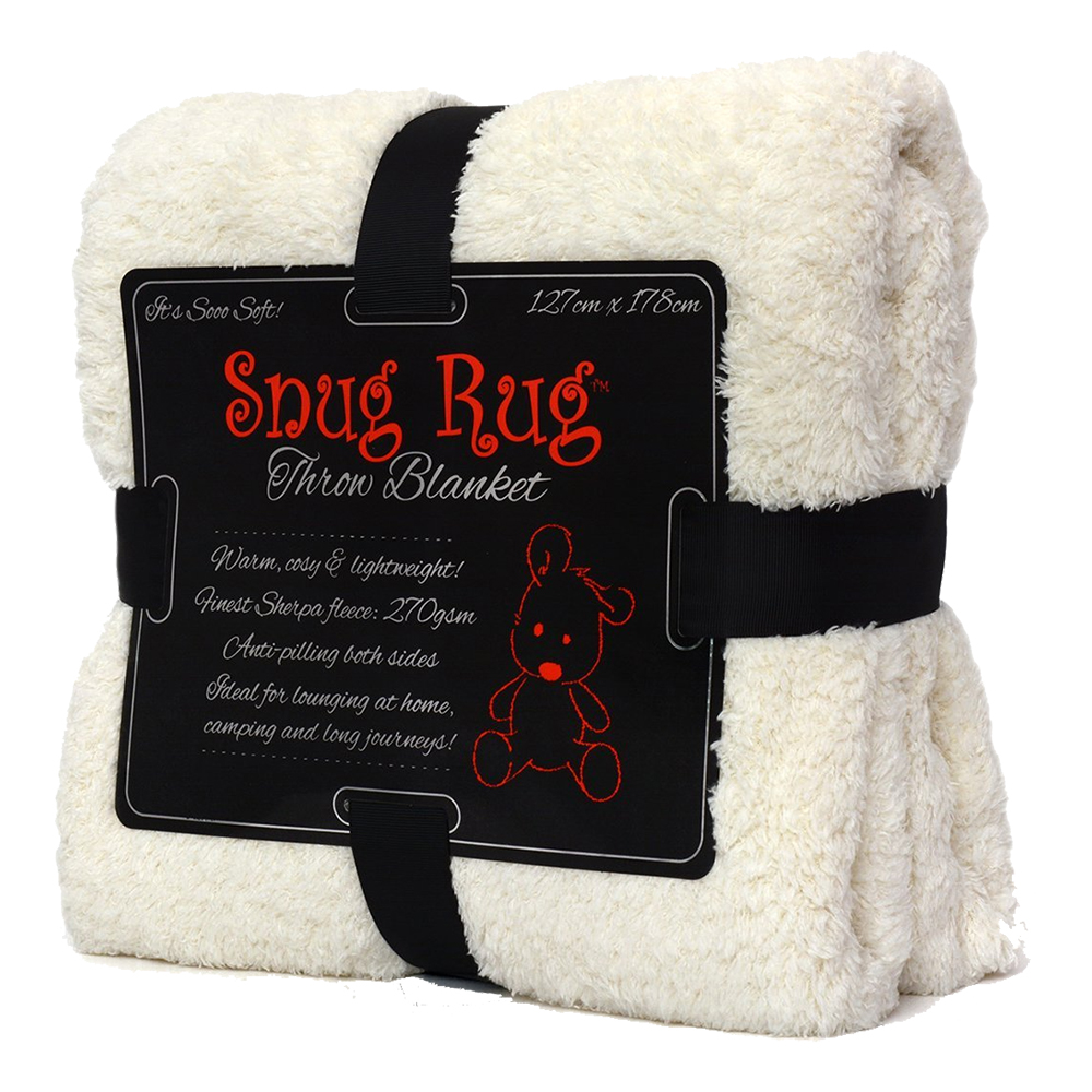 Snug Rug Fleecefilt - Vit