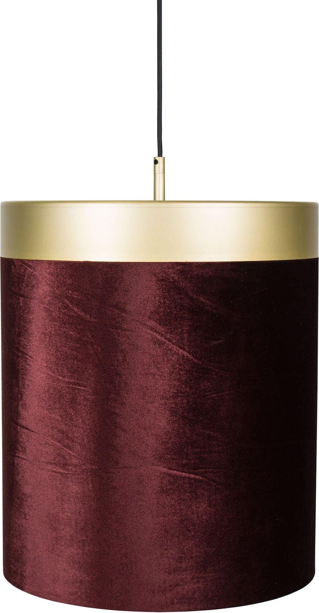 Globen Lighting Kattovalaisin Velvet, Punainen