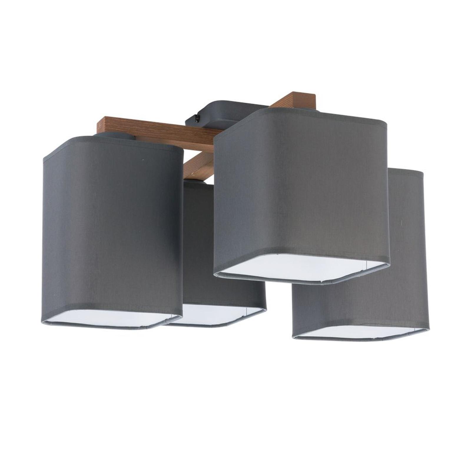 Kattovalaisin Tora 4-lamppuinen, harmaa