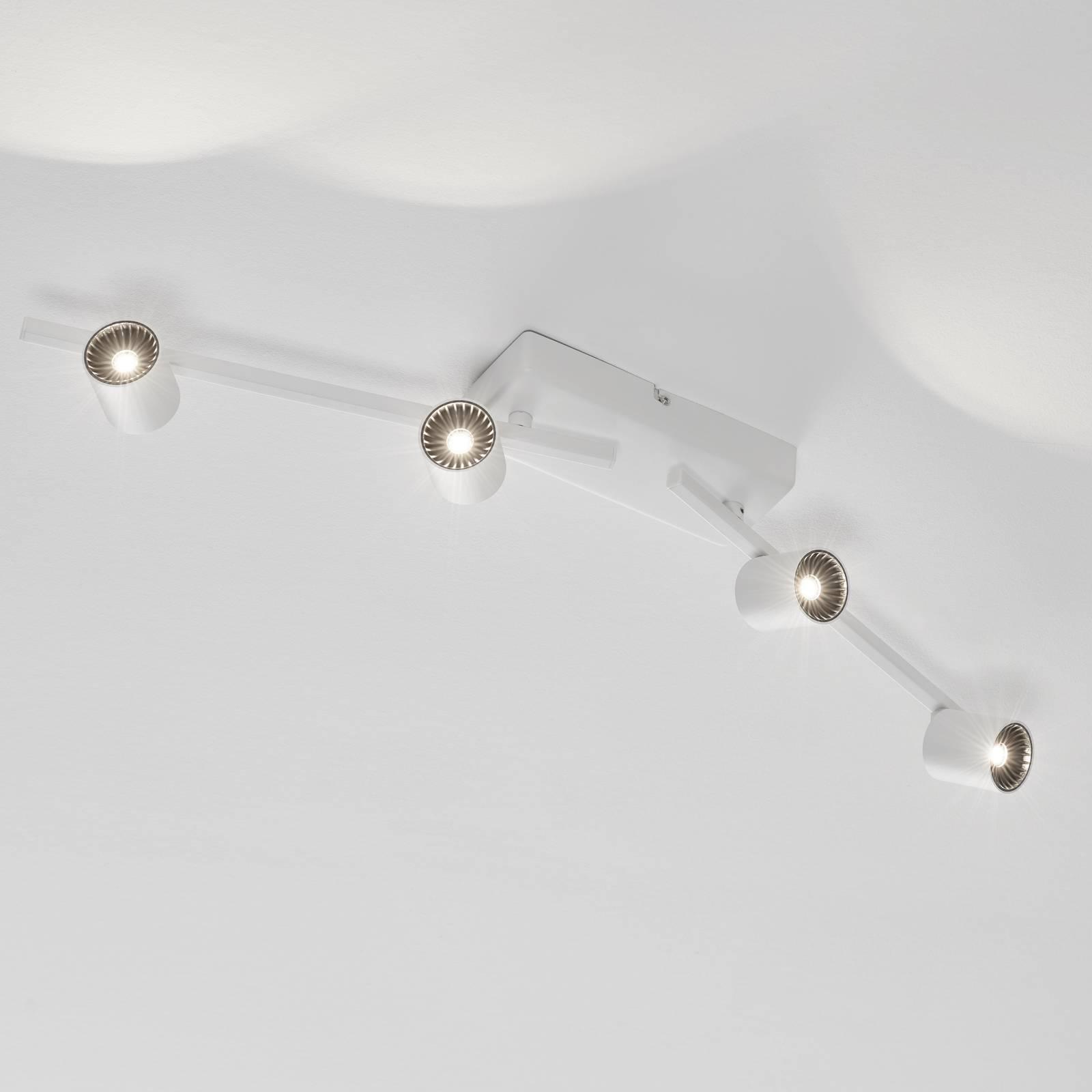 LED-kattokohdevalo Rinik, 4-lamppuinen, pitkä