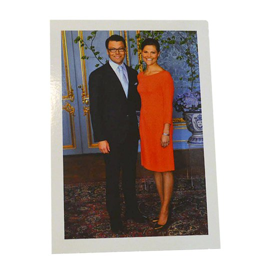 """Vykort """"Kronprinsessan Victoria & Daniel"""" - 87% rabatt"""