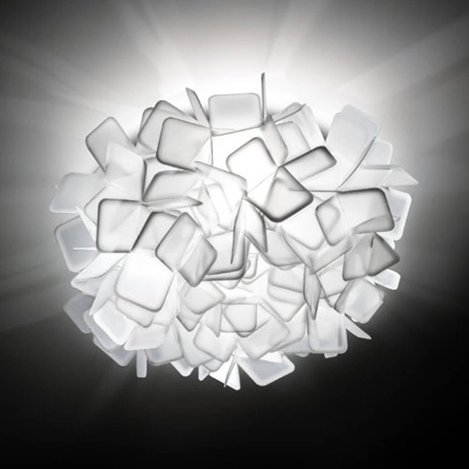 Epätavallinen seinävalaisin Clizia, valkoinen