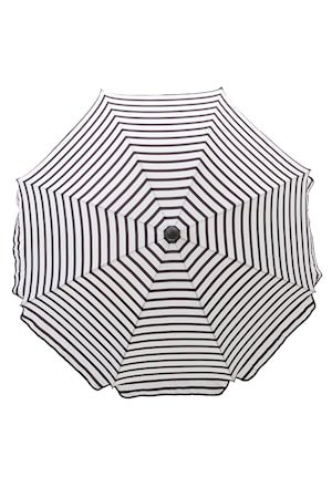Oktogon Parasoll 180 cm, svart/hvit