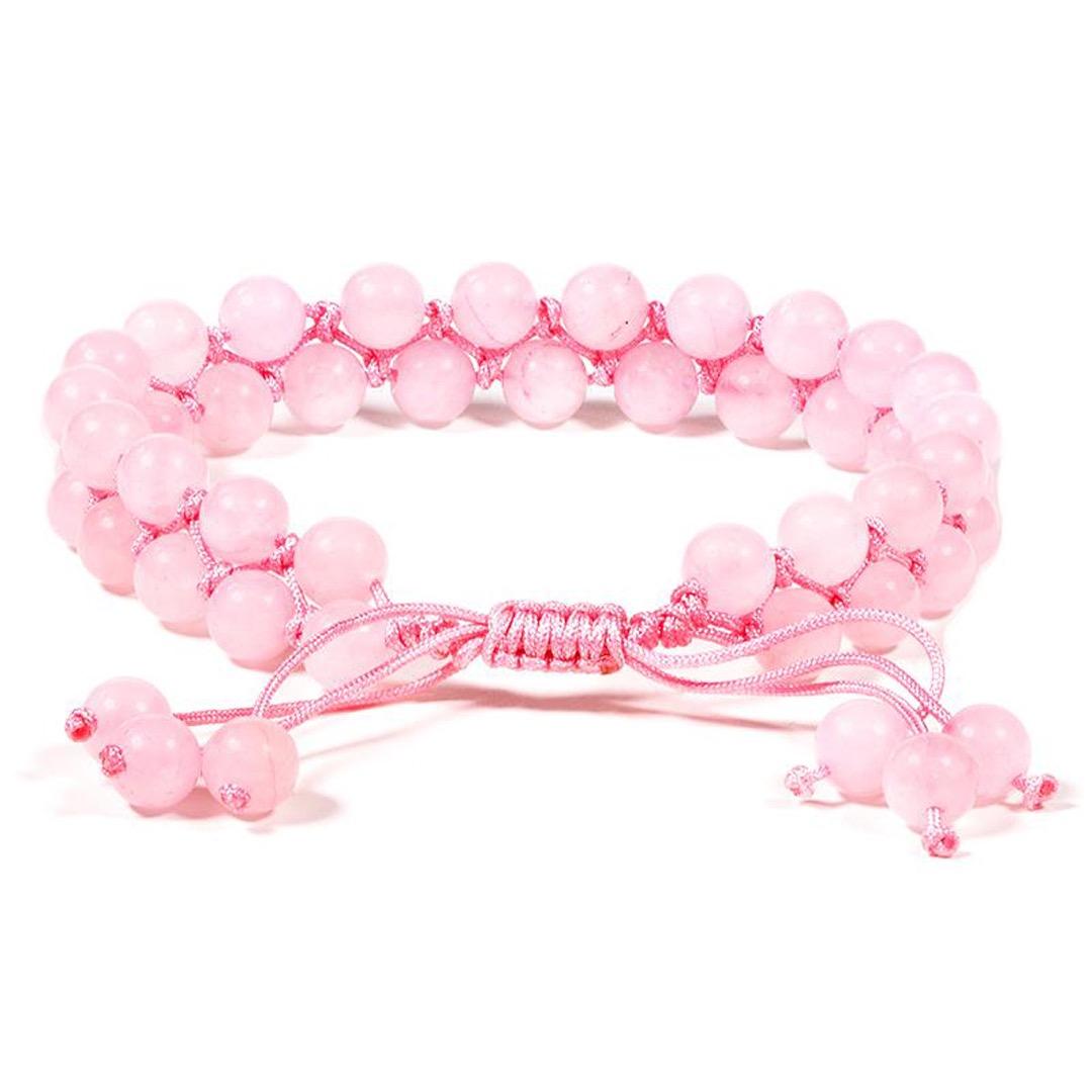 Armband med ädelstenar - Rose quartz