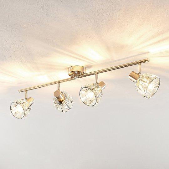 Lindby Kosta taklampe, 4 lyskilder, nikkel