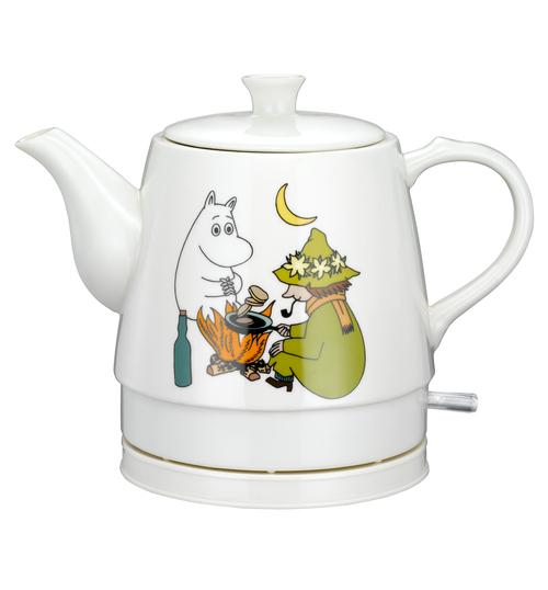 Moomin Ceramic 0.8l Friendship Vattenkokare - Vit