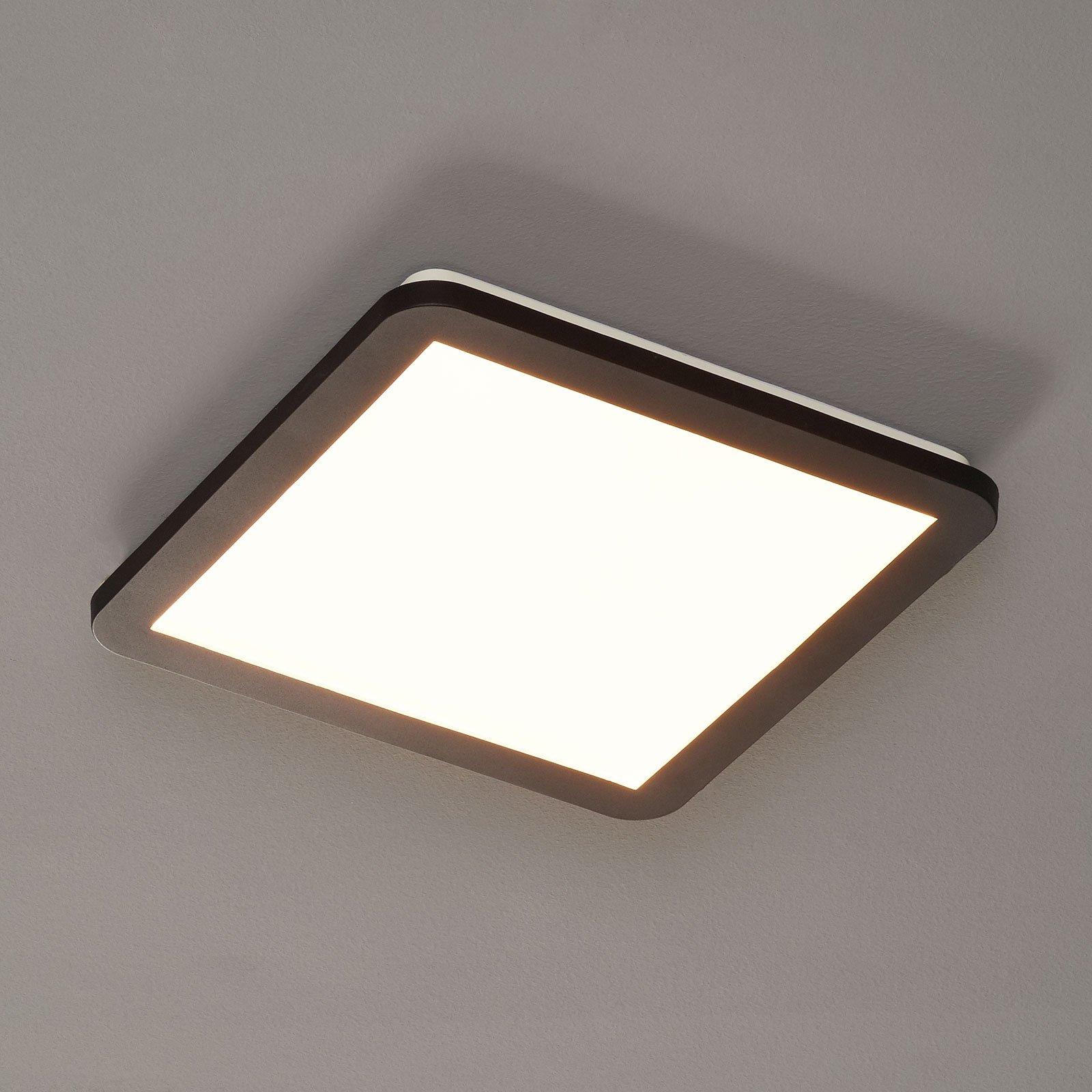 LED-taklampe Camillus, kvadratisk - 30 cm