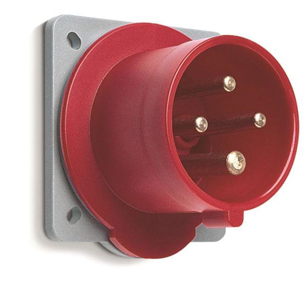 ABB 2CMA193442R1000 Vegginntak IP44, 32 A, skrueklemme 4-polet, rød