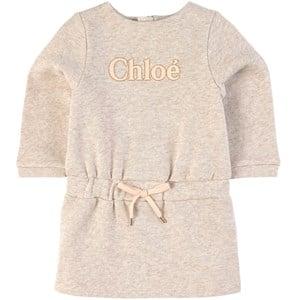 Chloé Logo Mjukis-klänning Beige 6 mån