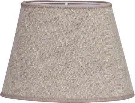 Oval Lampeskjerm Lin Lysbeige 20 cm