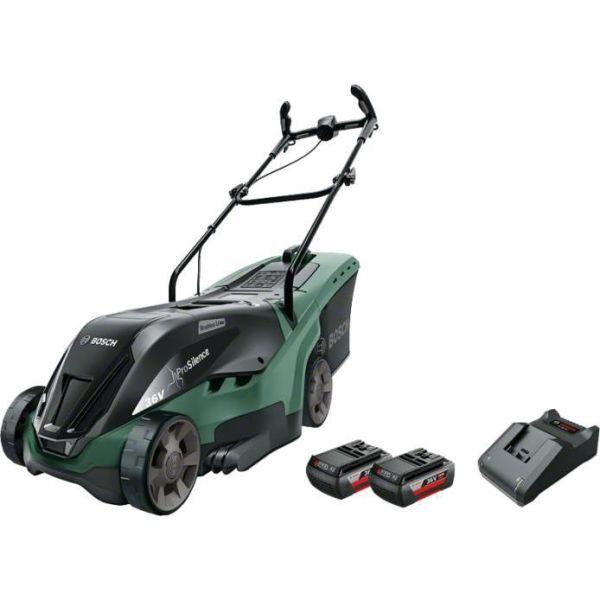 Bosch DIY Advanced Rotak 36-950 Gressklipper med 2 st 4,0Ah batterier og ladere