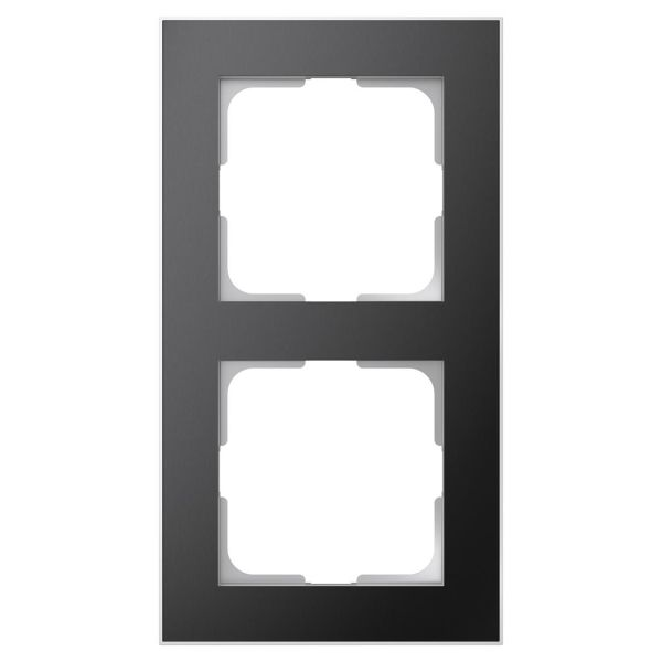 Elko EKO06193 Yhdistelmäkehys musta/alumiini 2-paikkainen