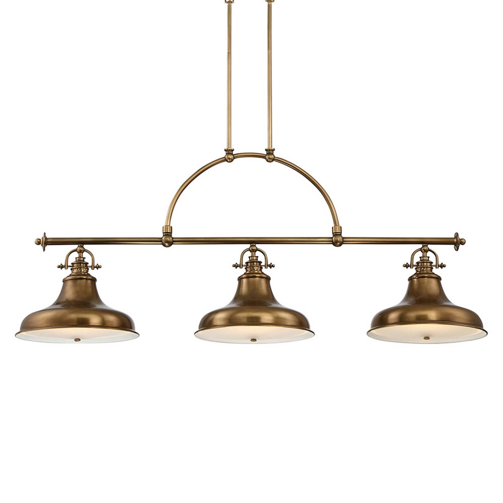 Emery-riippuvalo, 3-lamppuinen, messinki