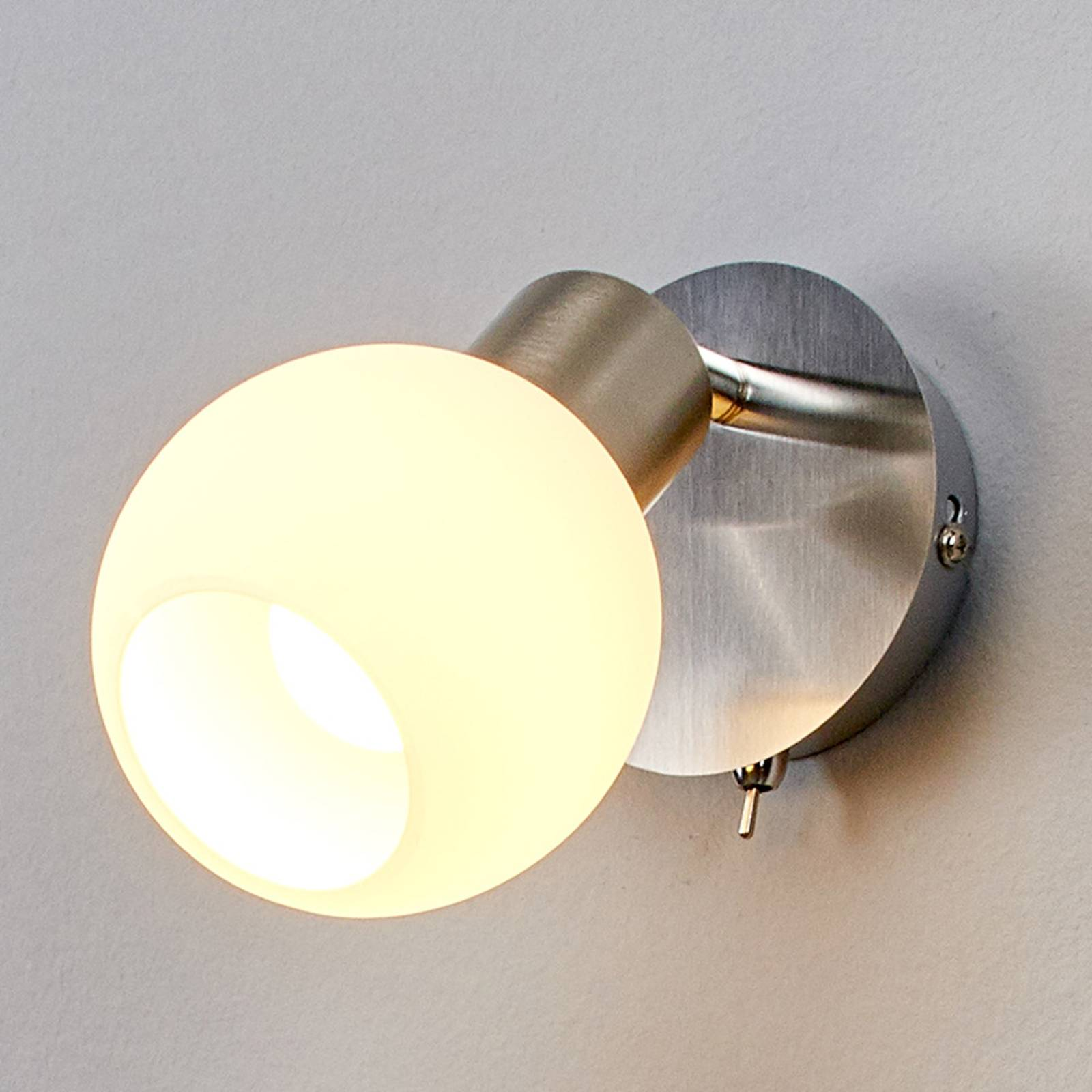 Elaina LED-seinäspotti, matta nikkeli