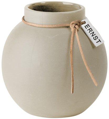 Rund Vase steingods 10 cm - Natur