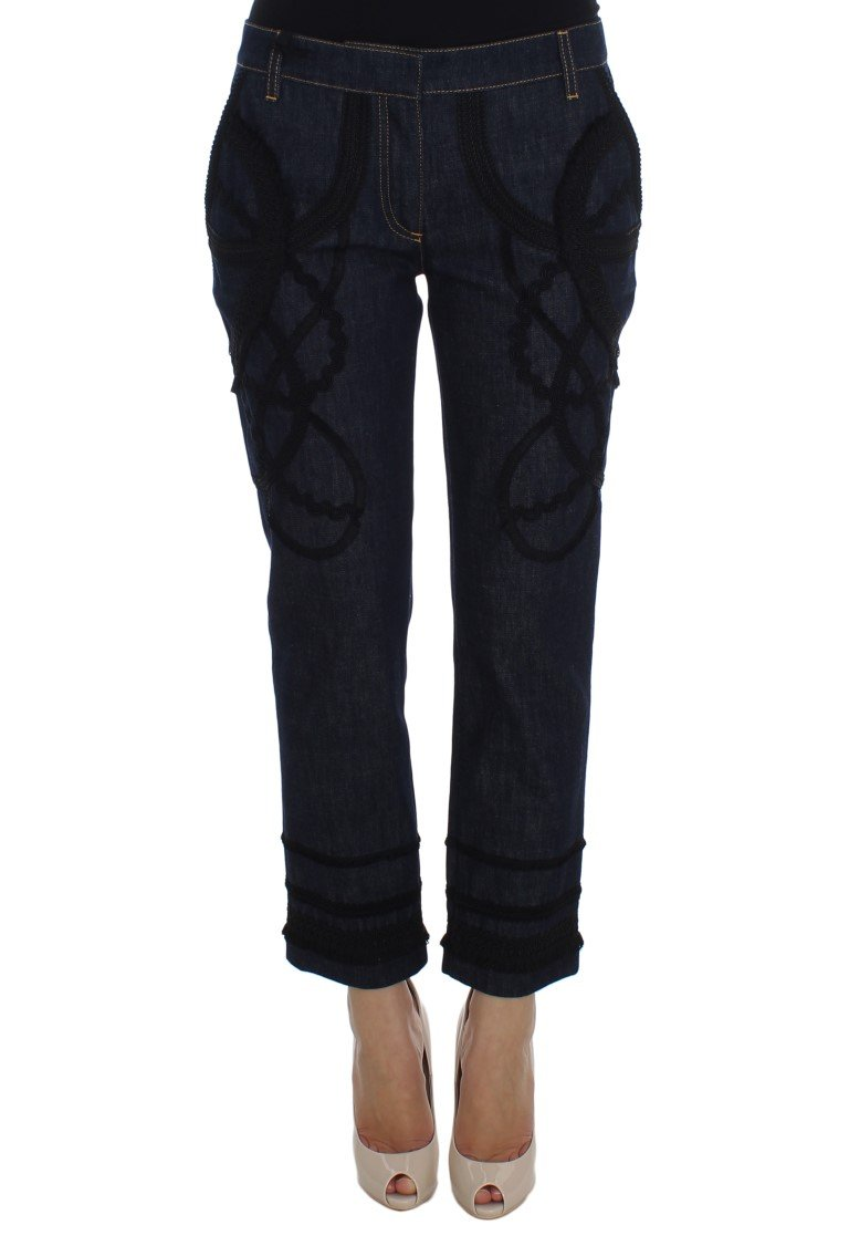 Dolce & Gabbana Women's Denim Cotton CAPRI Torero Jeans Blue SIG20020 - IT42|M