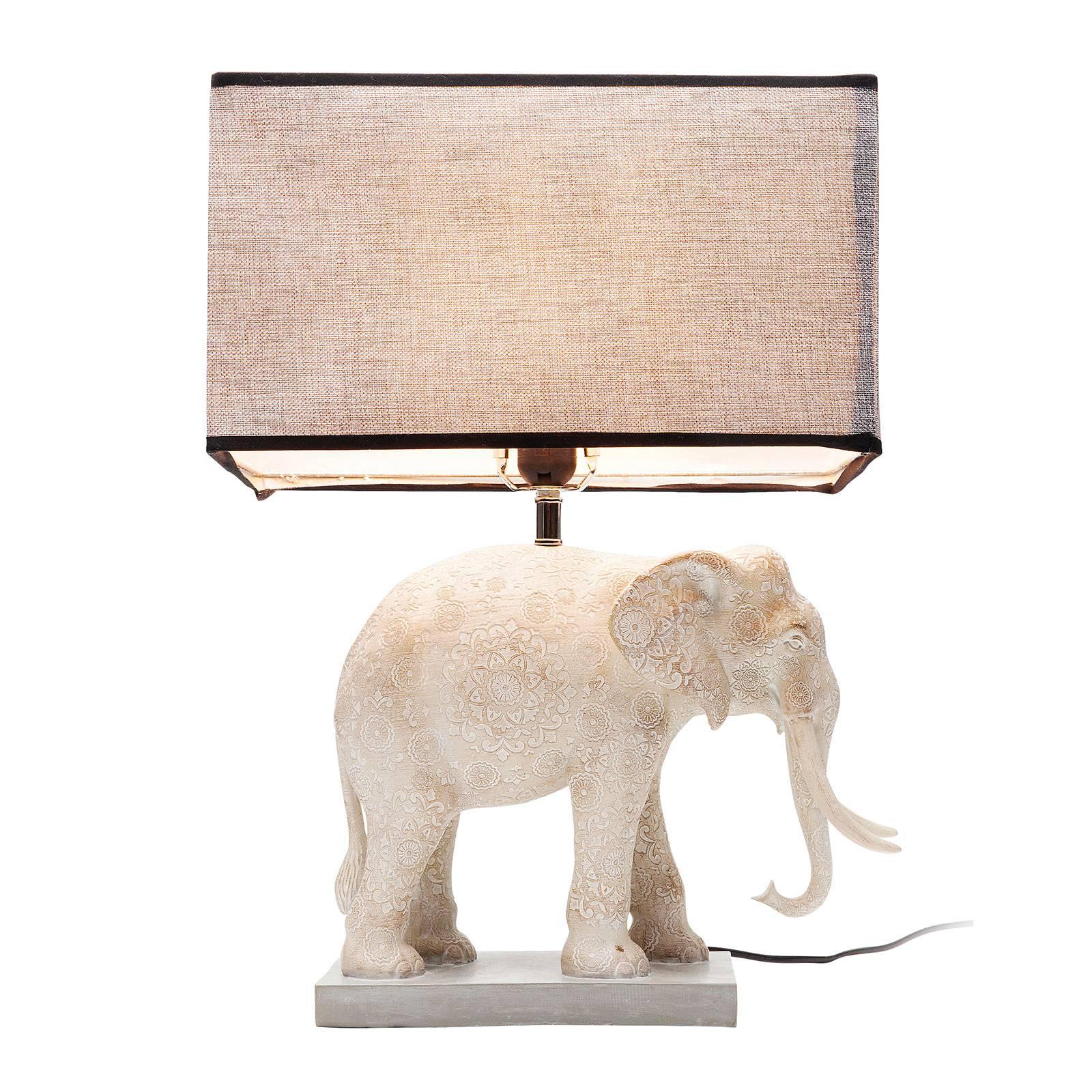 KARE Elephant -pöytävalaisin kangasvarjostimella