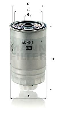 Polttoainesuodatin MANN-FILTER WK 8034