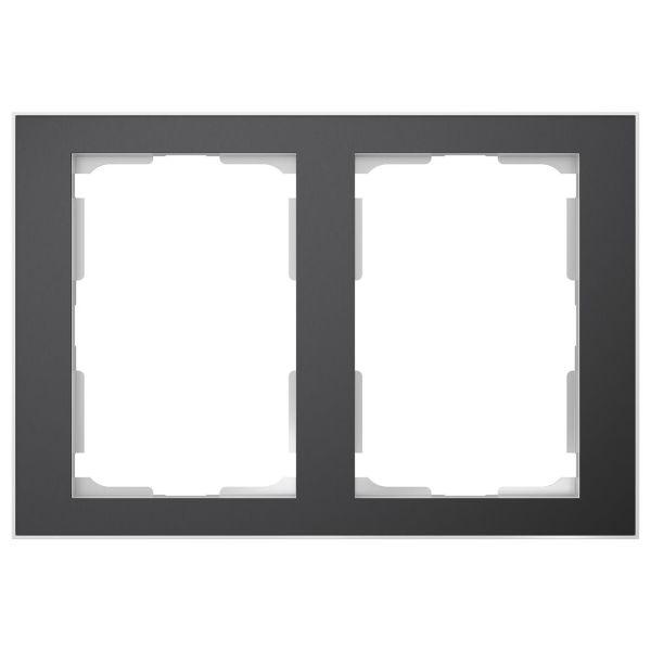 Elko EKO06314 Kombinasjonsramme svart/aluminium, 1½-roms 2 x 1½ rom