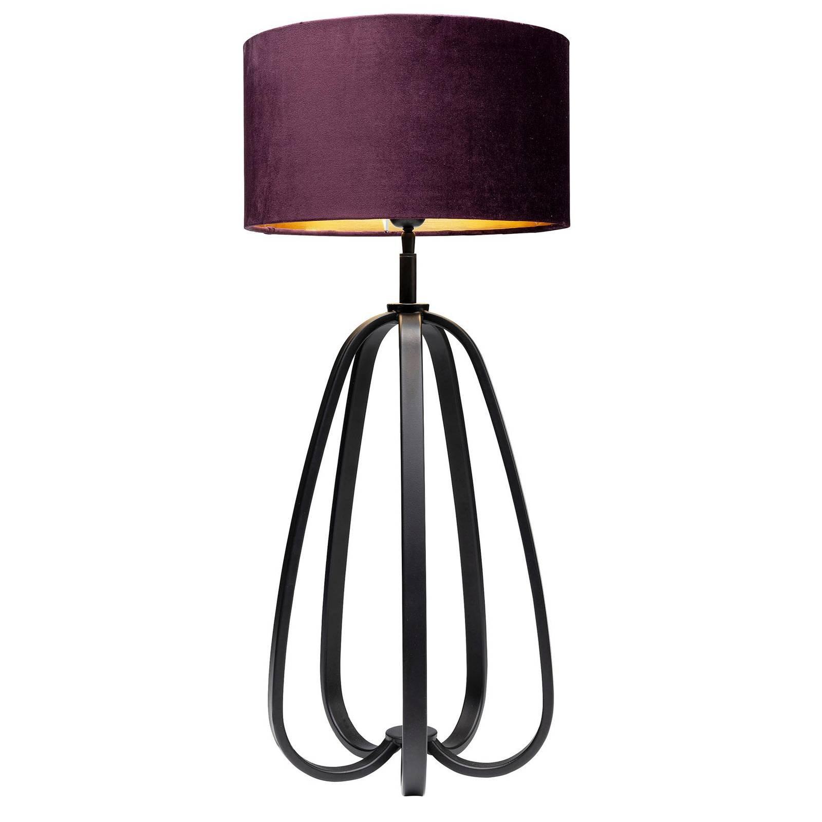 KARE Loop bordlampe med tekstilskjerm, lilla