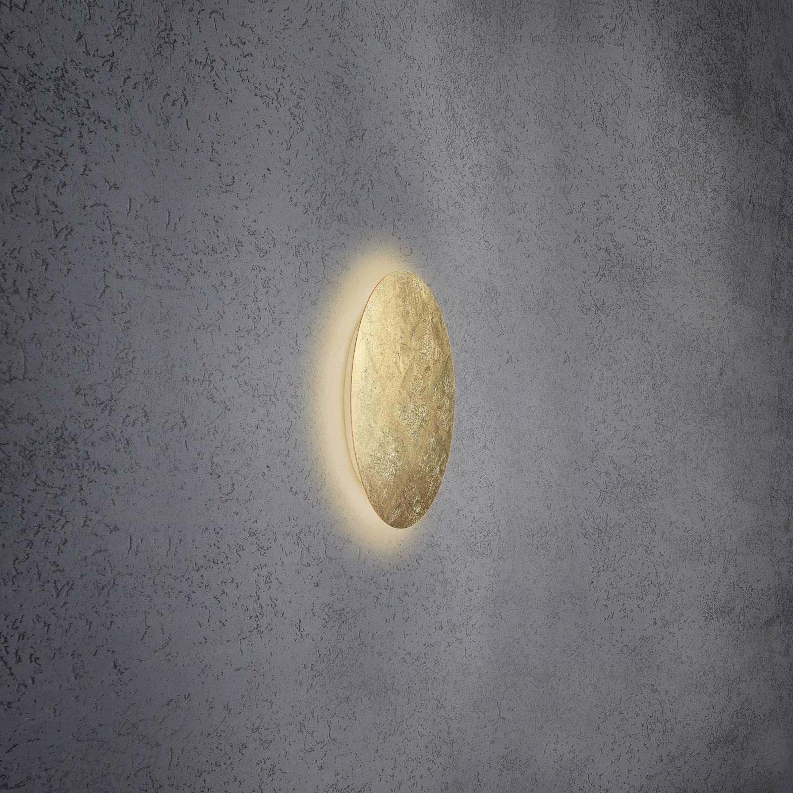 Escale Blade -LED-seinävalaisin, lehtikulta Ø34 cm