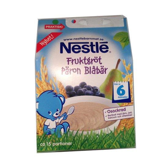 Fruktgröt, Nestlé, päron & blåbär - 27% rabatt