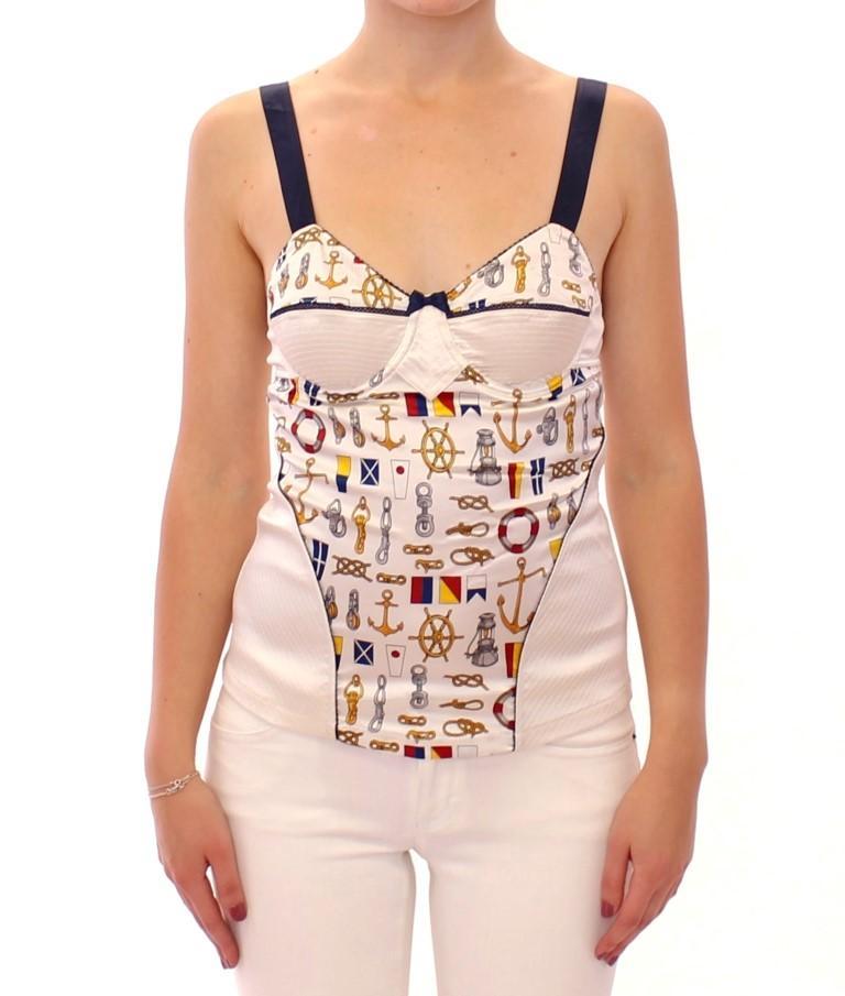 Dolce & Gabbana Women's Detailing Tops White MOM11633 - IT4 | L