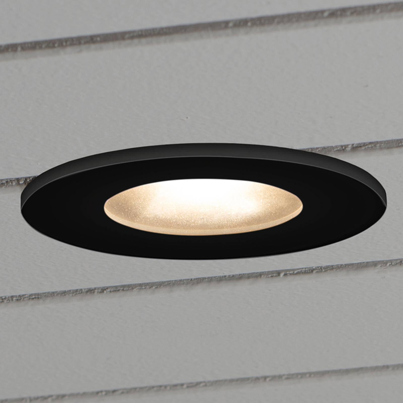 LED-downlight 7875 tak utendørs, svart
