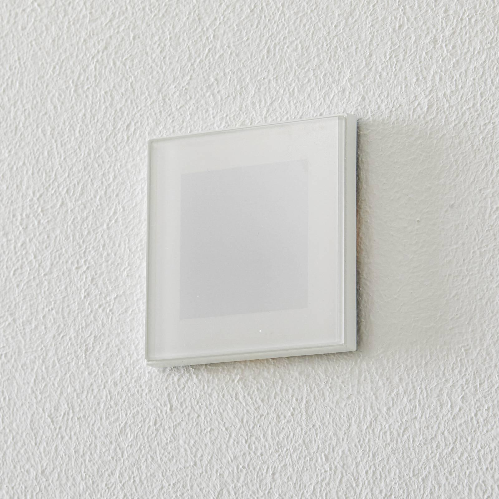 BEGA Accenta veggmontering kantet ring hvit 160lm