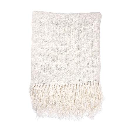 Linen Filt White 130x170 cm