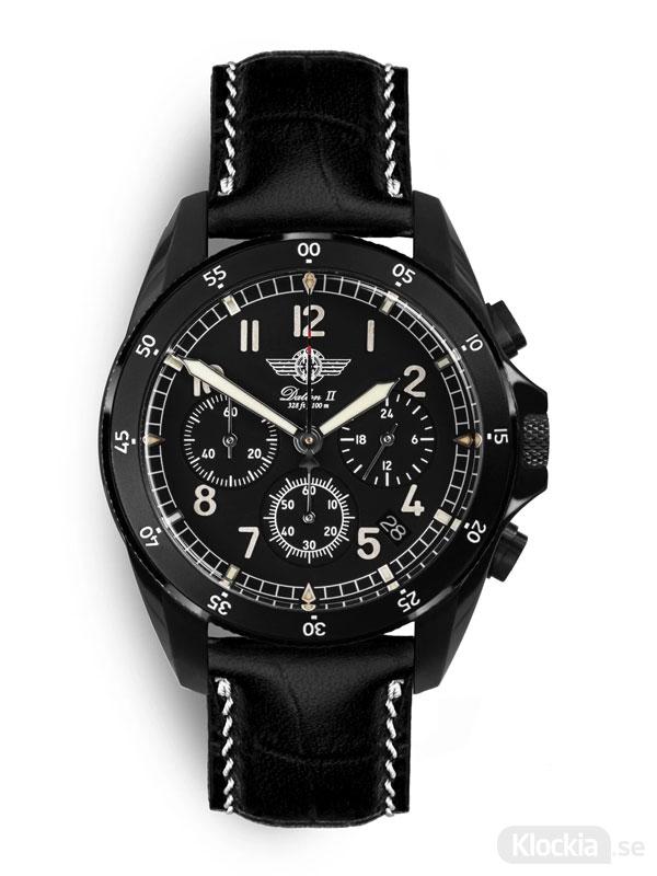 MALM Dalton 2 Black Chronograph 41 Black Classic MW-DAIIDLC39SWAF-LTD-BC - Herrklocka