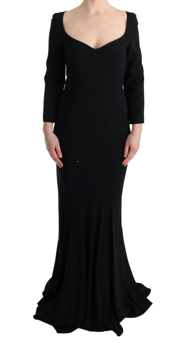 Dolce & Gabbana Women's Stretch Lace Gown Dress Black Black SIG60669 - IT42|M