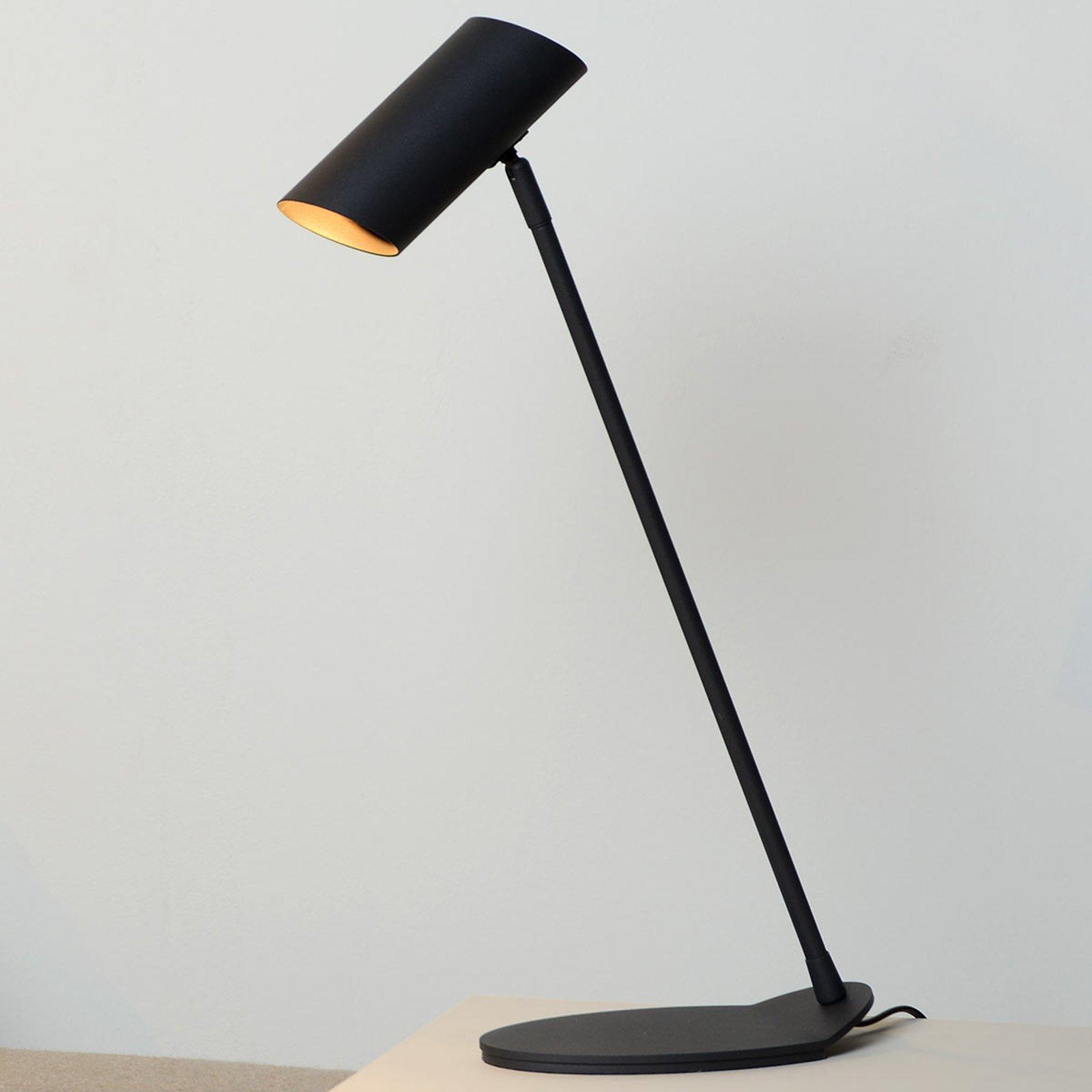 Hester raffinert skrivebordslampe, svart